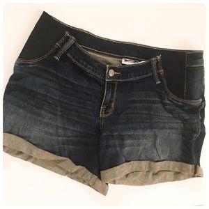 New Liz Lange Target denim jean maternity shorts M